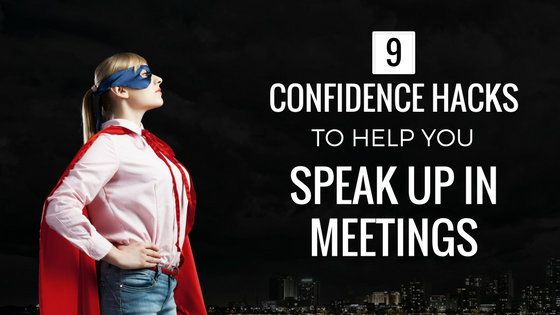speak up in meetings